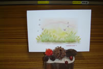 ネイチャークラフト「木の実の写真立て」